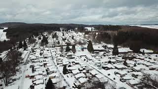 Unser Platz aus der Vogelperspektive im Winter