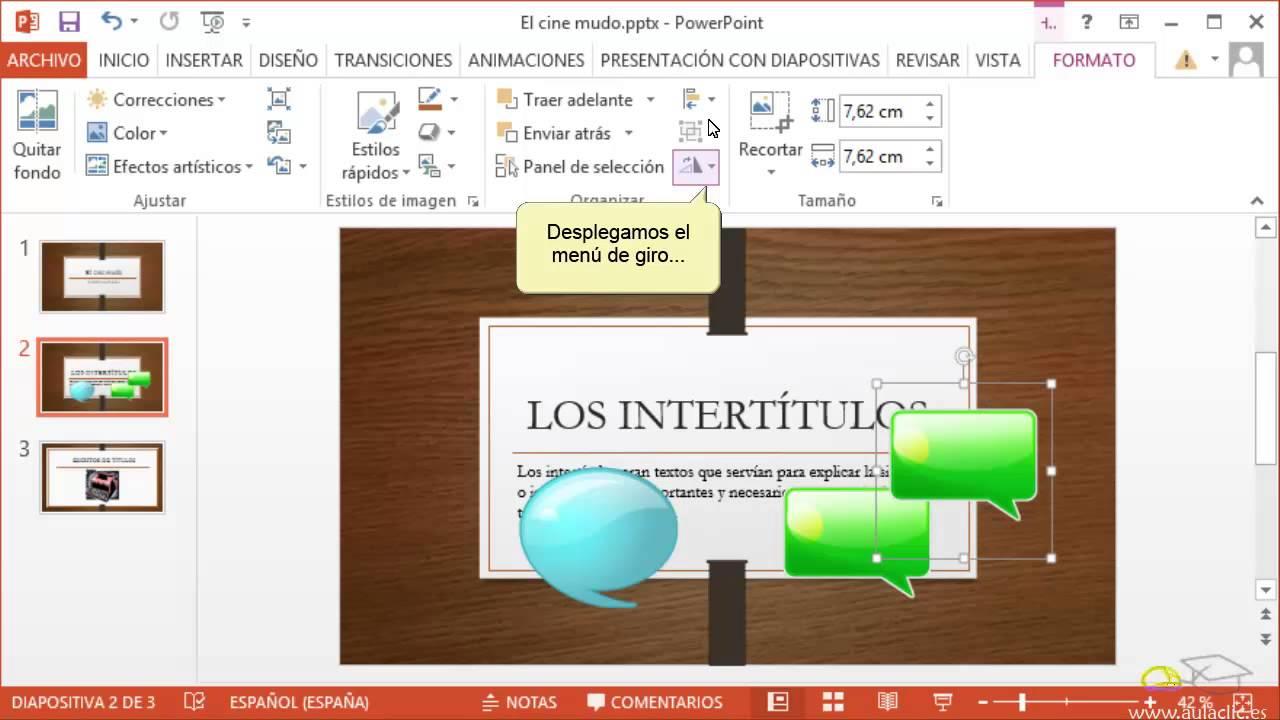 curso de powerpoint 2013  4  manejar objetos
