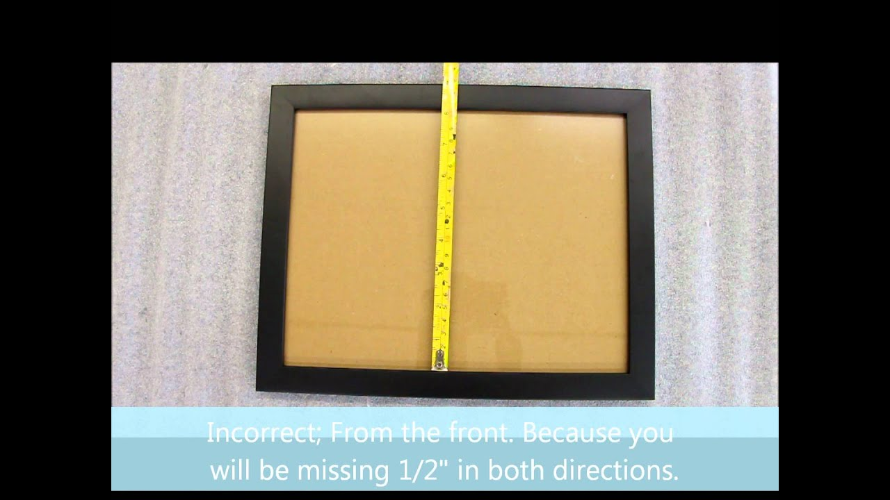 How To Measure a Picture Frame - YouTube