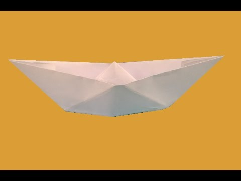how to make an origami boat that floats