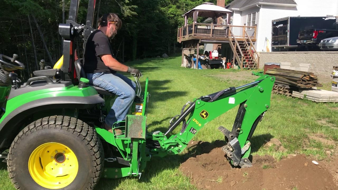 HomesteadJoe Trenching with 2038R and 270B Backhoe
