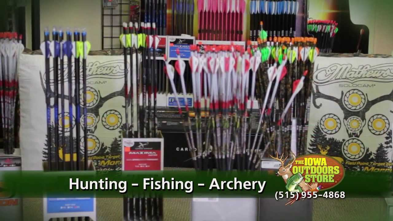 Iowa outdoors store hunting fishing archery fort dodge for Iowa out of state fishing license