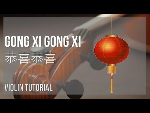 How to play Gong Xi Gong Xi 恭喜恭喜 by Yao Li, Yao Min 姚莉,姚敏 on Violin (Tutorial)
