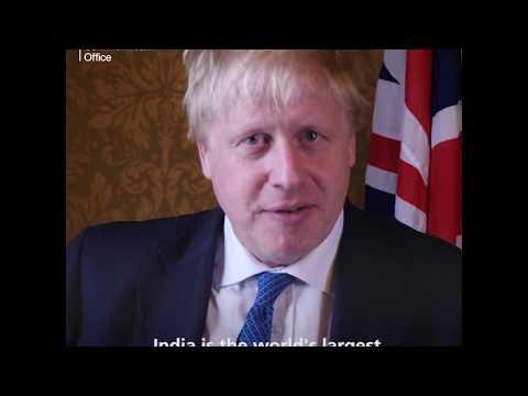 Foreign Secretary Boris Johnson welcomes Prime Minister Modi to the UK