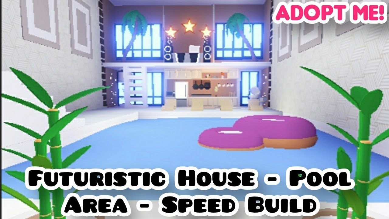Adopt Me Futuristic House Pool Area Design Ideas Buildings Hacks Part 1 Youtube
