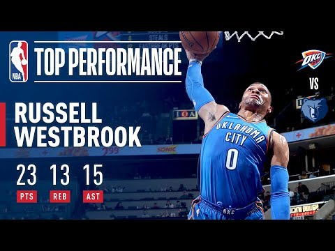 Russell Westbrook Rallies the Thunder With a Triple-Double vs. the Grizz   February 14, 2018