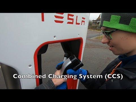 Nya CCS laddare på Tesla Supercharger i Kungälv
