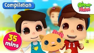 Compilation | We Love Cats | Omar & Hana | Islamic Nursery Rhymes for Kids