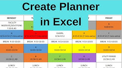 Create Daily Weekly Planner in Excel