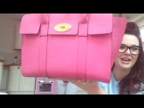 Unboxing of a brand new candy pink mulberry small Bayswater bag what a gorgeous handbag