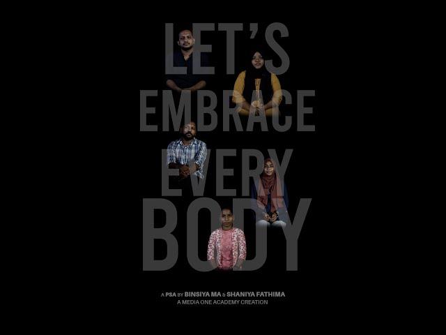 Let's Embrace Every Body | Public service ad PSA Project | Mediaone Academy | PSA #1