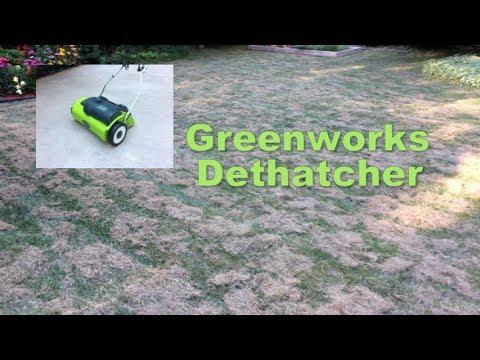 """GreenWorks Dethatcher 27022 10 Amp 14"""" Corded"""