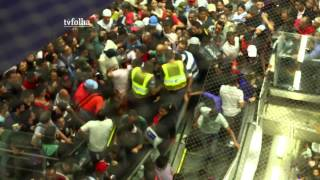 Video shows the chaos in a subway station in São Paulo