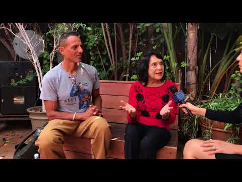 Dolores Huerta and Peter Bratt of Dolores Documentary