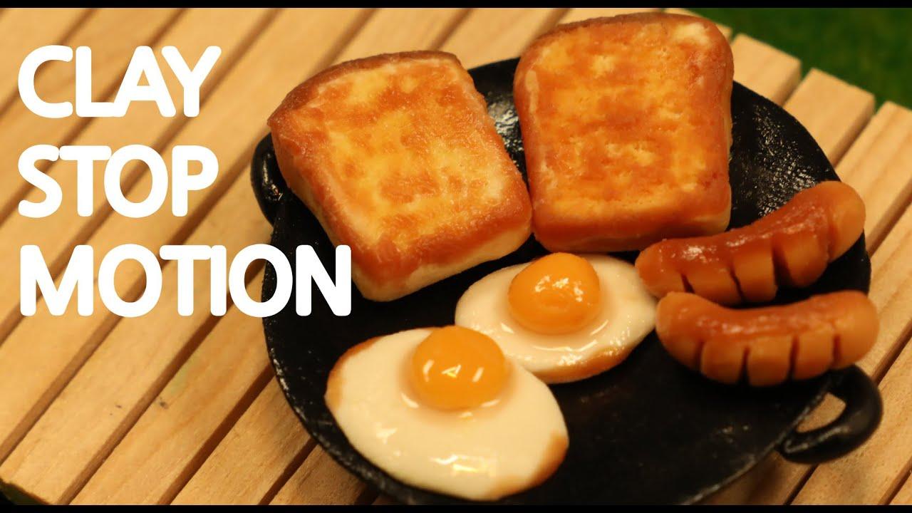 스톱모션 요리 프렌치 토스트 Stop Motion Cooking French Toast ASMR claymation clay animation [W MOTION]