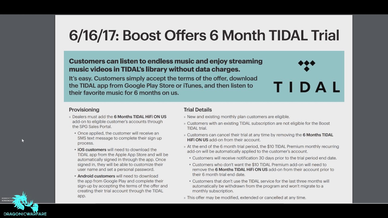 Boost Mobile offers 6 Months of Free Tidal (HD)