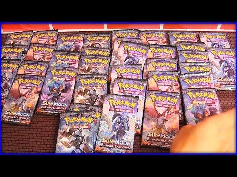 Opening a Pokemon Burning Shadows Booster Box - 36 Pokemon Packs Opening!