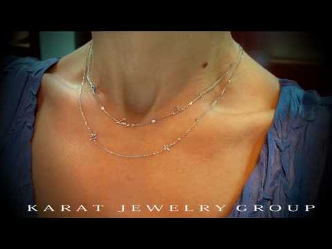 White Gold Necklaces at Karat Jewelry Group.