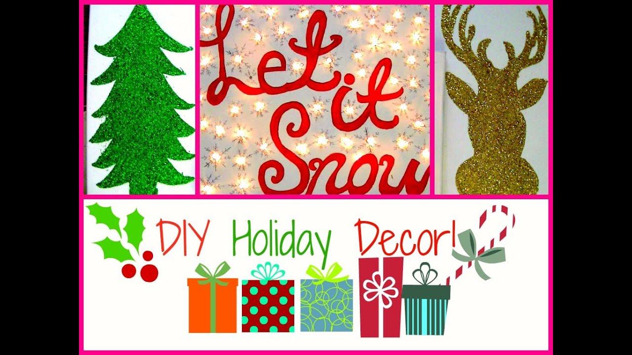 ❄ Simple & Easy DIY Holiday Wall Decor! ❄ - YouTube