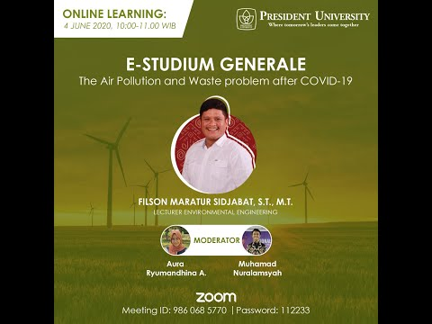 E-Studium Generale 4 Juni 2020 - The Air Pollutiona and Waste Problem After COVID-19 (ENV Sharing)