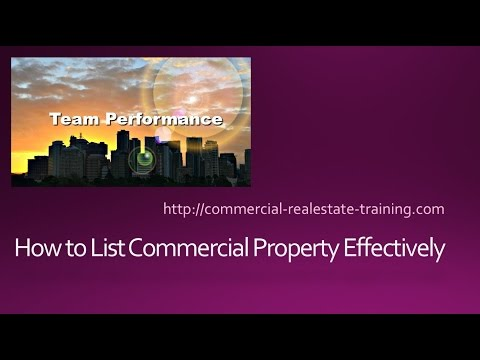 How to List Commercial Property Effectively and Efficiently