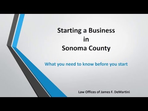 Start a Business in Sonoma County