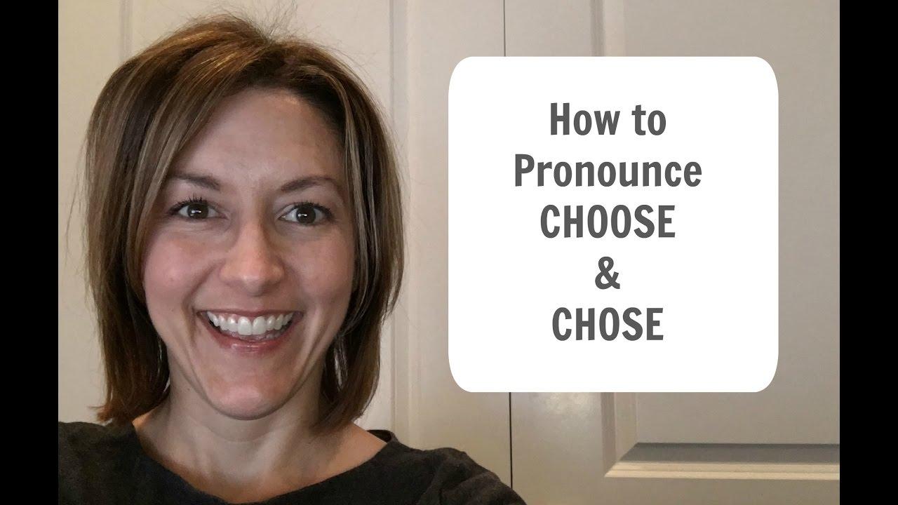 How to Pronounce CHOOSE & CHOSE /tʃuz tʃoz/ - American English  Pronunciation Lesson