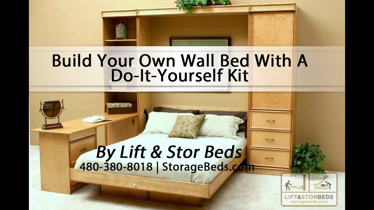 Do It Yourself Home Design: Build Your Own Wall Bed With A Do-It-Yourself Kit From