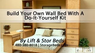 Build Your Own Wall Bed With A Do-It-Yourself Kit from Lift & Stor Beds