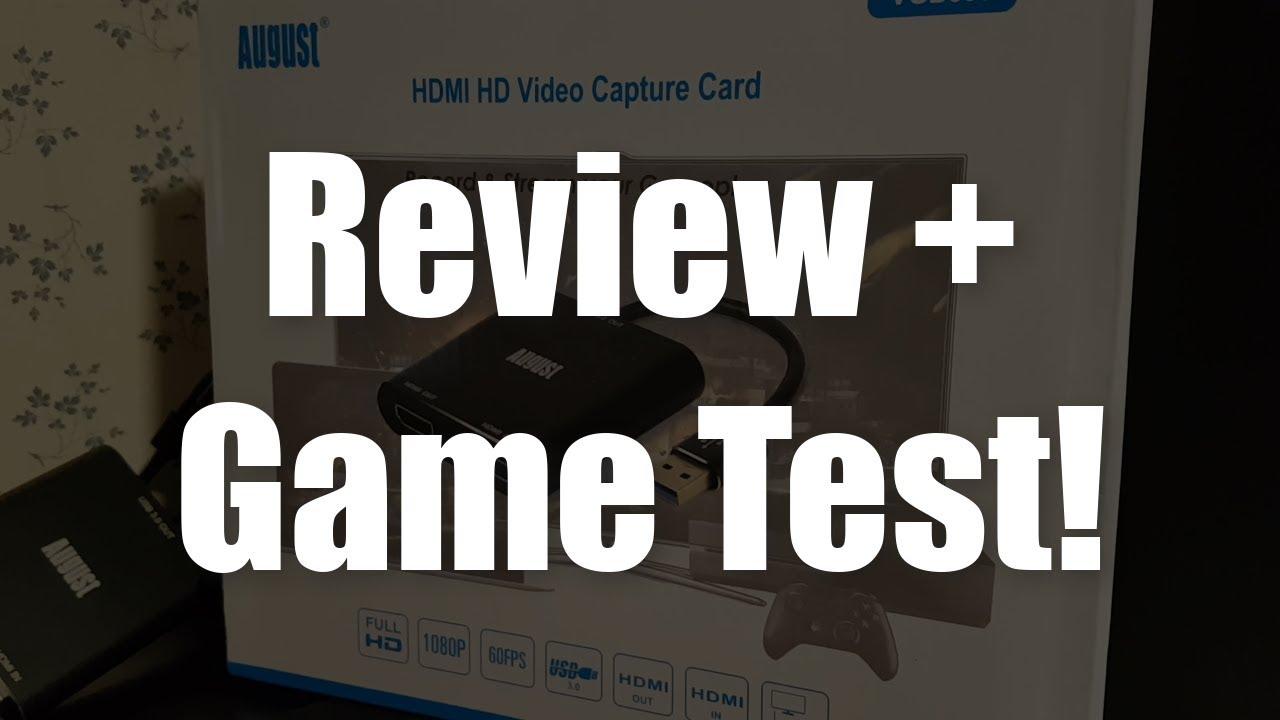August VGB500 Review + Game Test! $100 Dollar HD Capture Card