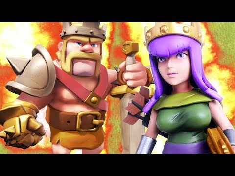 Clash of Clans - BARB KING vs. ARCHER QUEEN