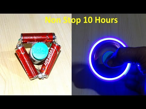 Thumbnail: How To Make a battery powered Non Stop Fidget Spinner ( 10 hours)