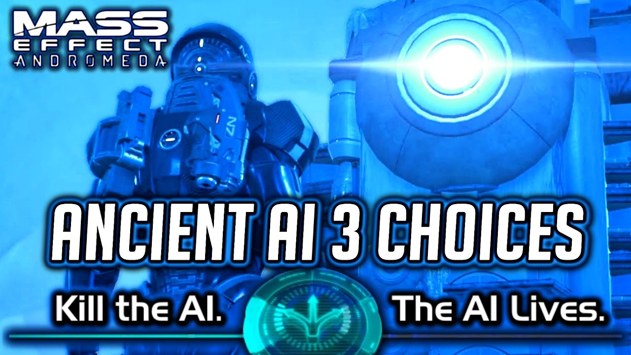 Mass Effect Andromeda Ancient Ai In The Ice Kill It Let It Live