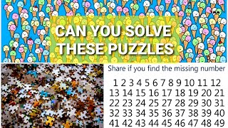 CAN YOU SOLVE THESE 10 VISUAL PUZZLES??