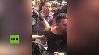 Momento del arresto del conductor que atropelló a transeúntes en el Times Square