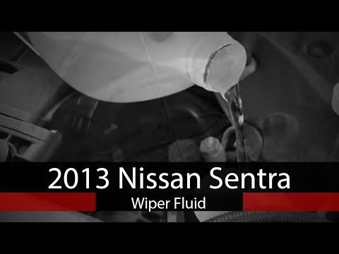 2013 Nissan Sentra  Add Windshield Wiper Fluid