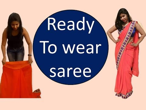 How to make easy Readymade Sari in English