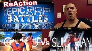 ERB Goku vs Superman Epic Rap Battle ReAction