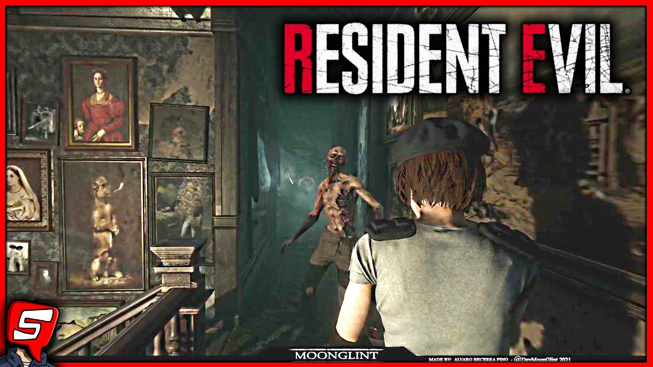 RESIDENT EVIL 1 REMAKE UNREAL ENGINE 4 (Resident Evil 1 Remake Third Person UE4 Test by MoonGlint)