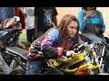 Start Joki Cewek Pake Ninja Drag Bike Keren Motornya Monita Pw