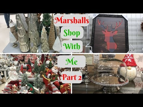 MARSHALLS SHOP WITH ME PART TWO! CHRISTMAS SHOPPE!!