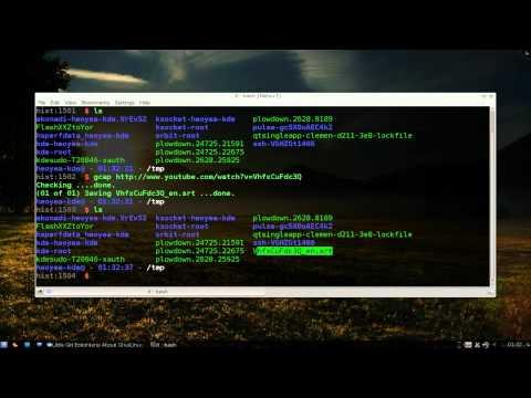 Gcap - Download Youtube Closed Captions - Kubuntu 10.10