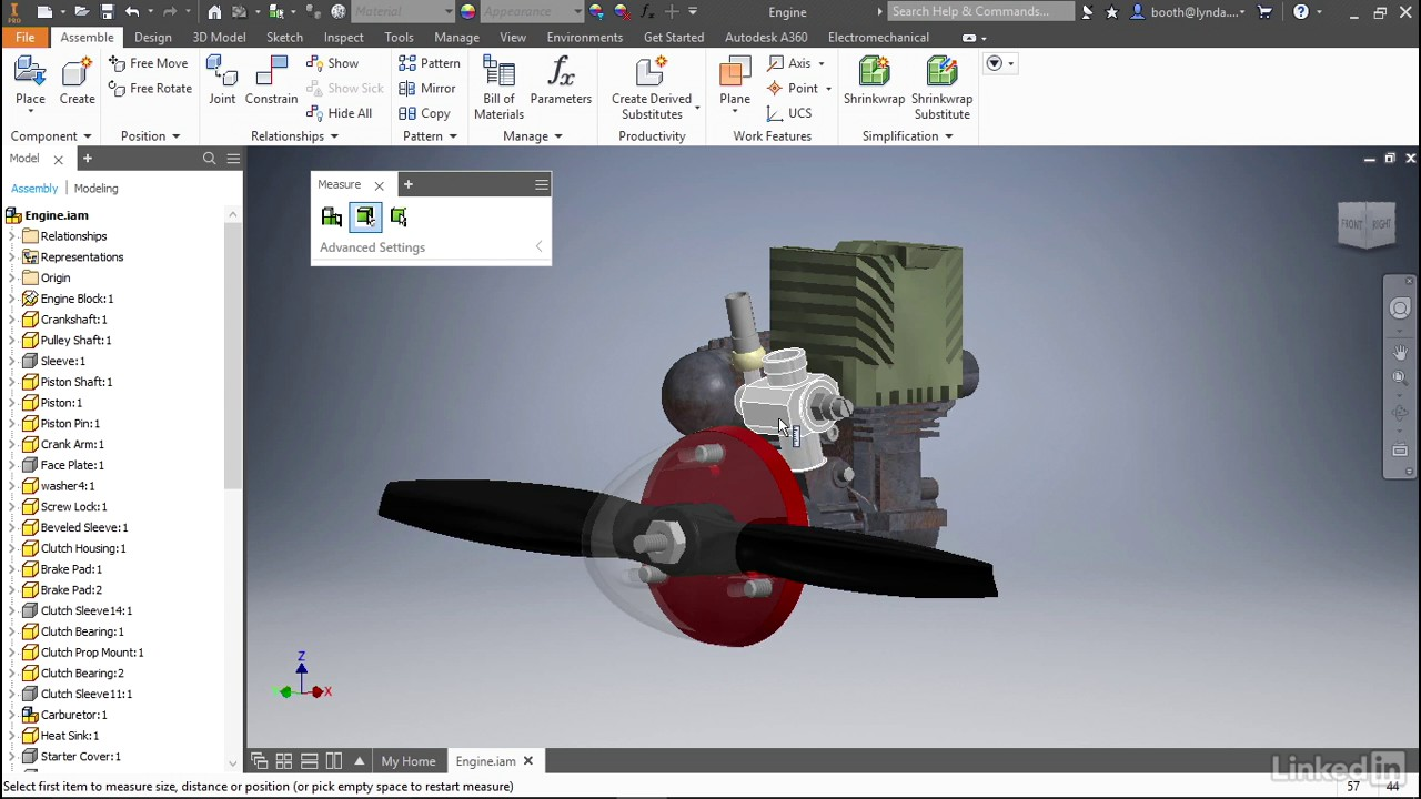 Measure tool | Autodesk Inventor 2018 New Features from