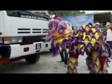 Funny Lion dance