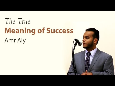 Amr Aly - The True Meaning of Success