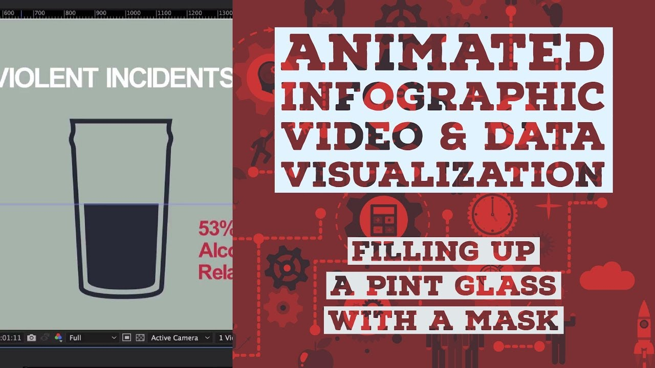 Filling up a pint glass with a mask - Animated Infographic Tutorial [39/48]