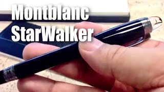 Mont Blanc StarWalker Resin Fineliner Midnight Black Pen Writing Instrument (105656) review