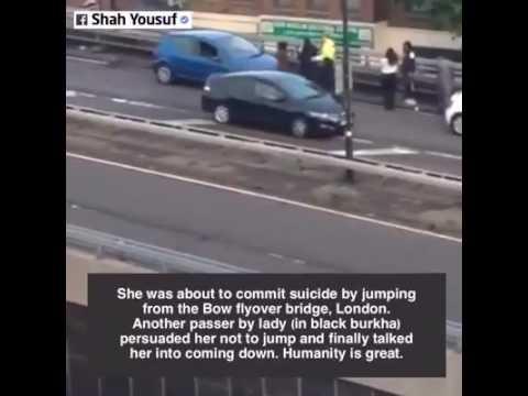 Woman In Niqab Saves Suicidal Teen