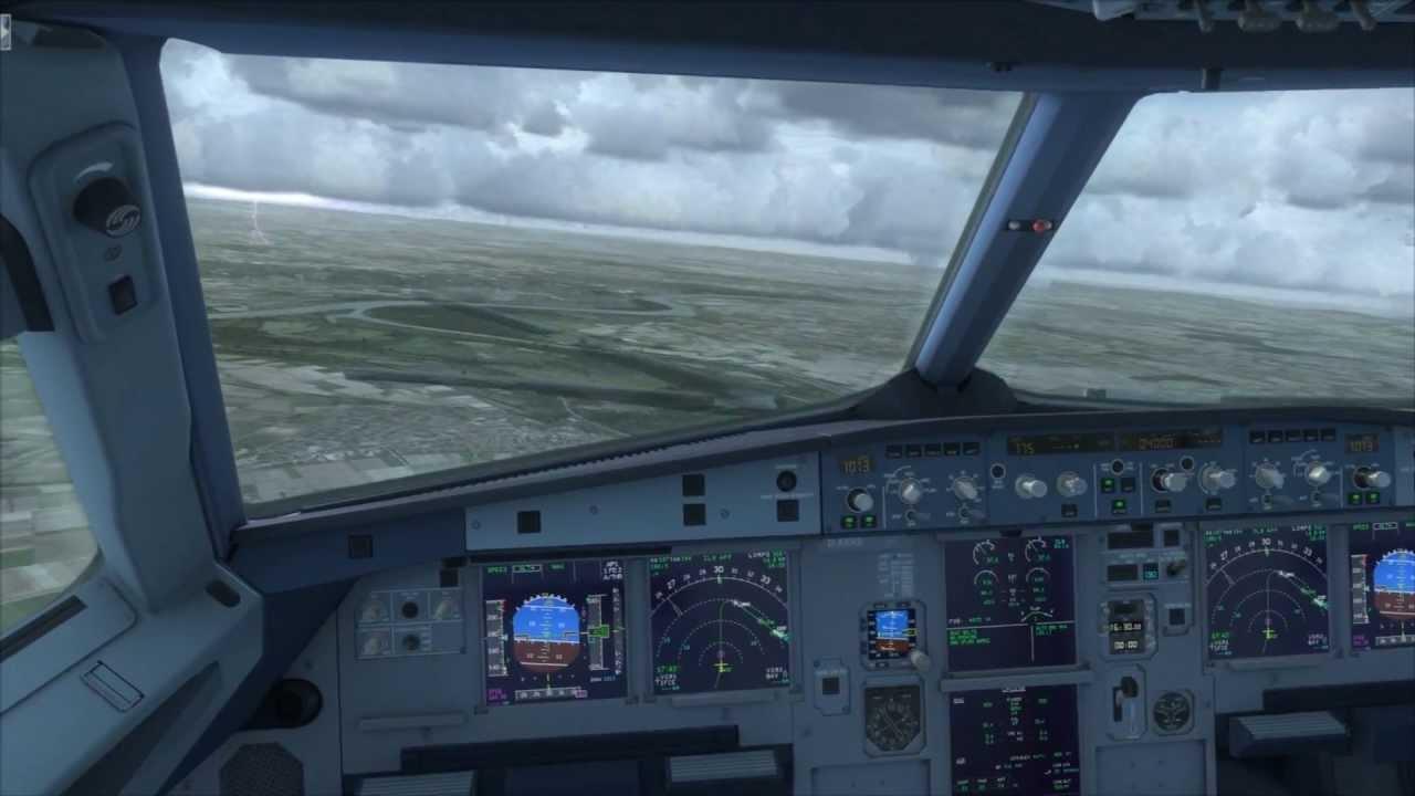 FSX HD 1080p- Airbus X Extended landing Frankfurt am Main (EDDF
