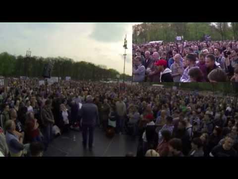 Montagsdemo 07.04.2014 Brandenburger Tor Berlin